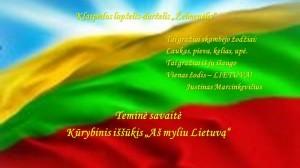 1 Aš myliu Lietuvą